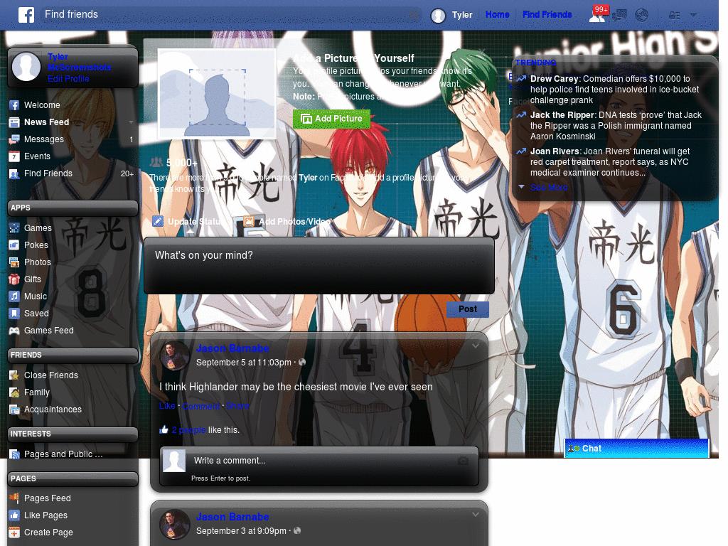 Google themes kuroko no basket - Kuroko No Basket Template Facebook
