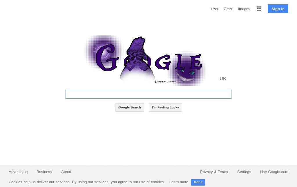 Alice In Wonderland Google Logo