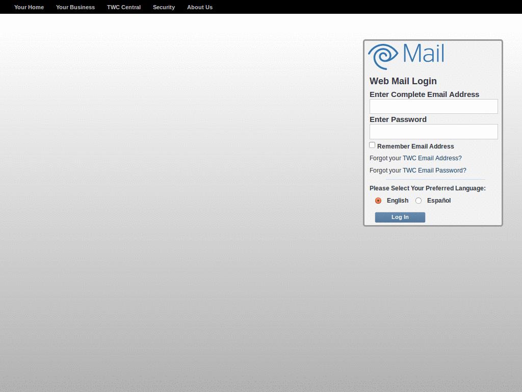 Netzero Webmail Login Page