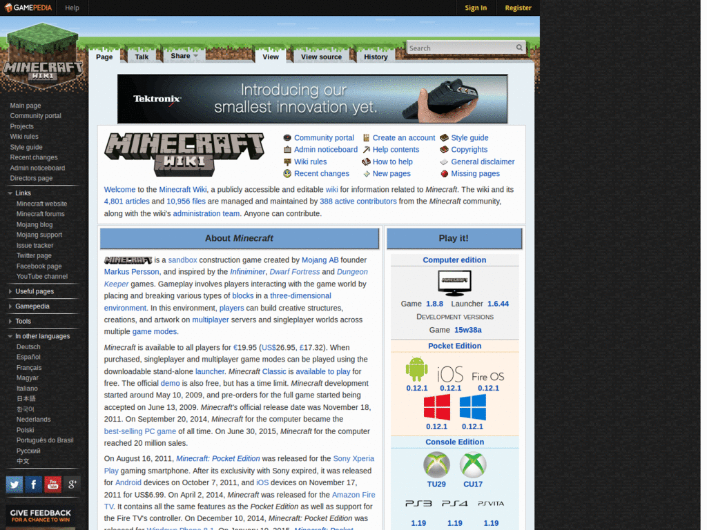 Minecraftwiki Themes & Skins | Userstyles org