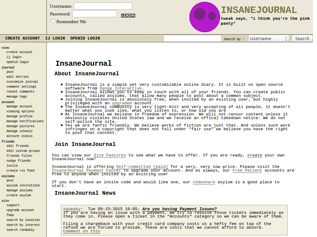 Insanejournal Themes & Skins | Userstyles org