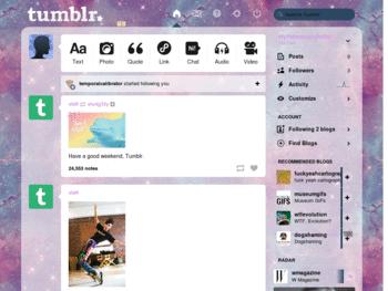 how to change tumblr dashboard theme