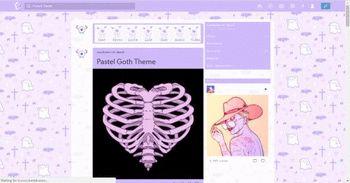 Pastel Goth Tumblr Dashboard Theme | Userstyles org