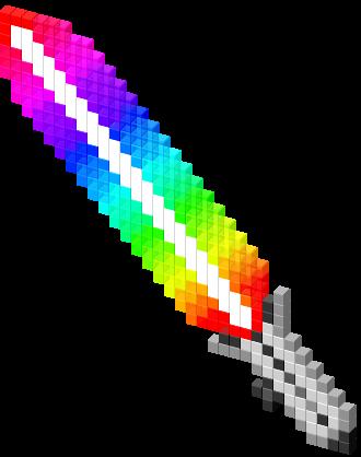 rainbow lightsaber - Halloween Tumblr Cursors