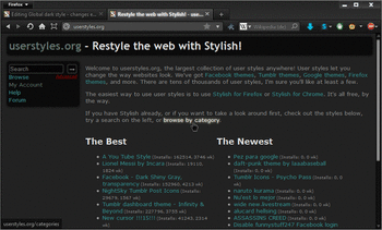 Website Themes & Skins by Stylish | Userstyles org