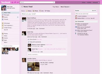 4 Search Terms Pink Facebook Themes Skins Userstyles Org
