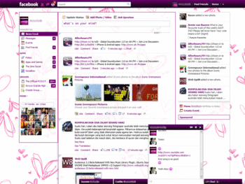 Purpled Out [Facebook Purple/Pink Theme] - Themes and Skins for ...