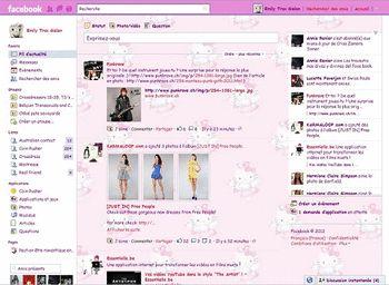 Facebook Hello Pinky Style