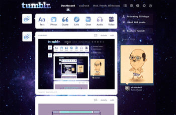 nebula tumblr dashboard theme themes and skins - userstyles.org