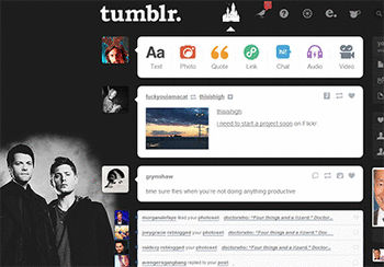 Tumblr dashboard: Destiel - Themes and Skins for Tumblr ...Destiel Tumblr Theme