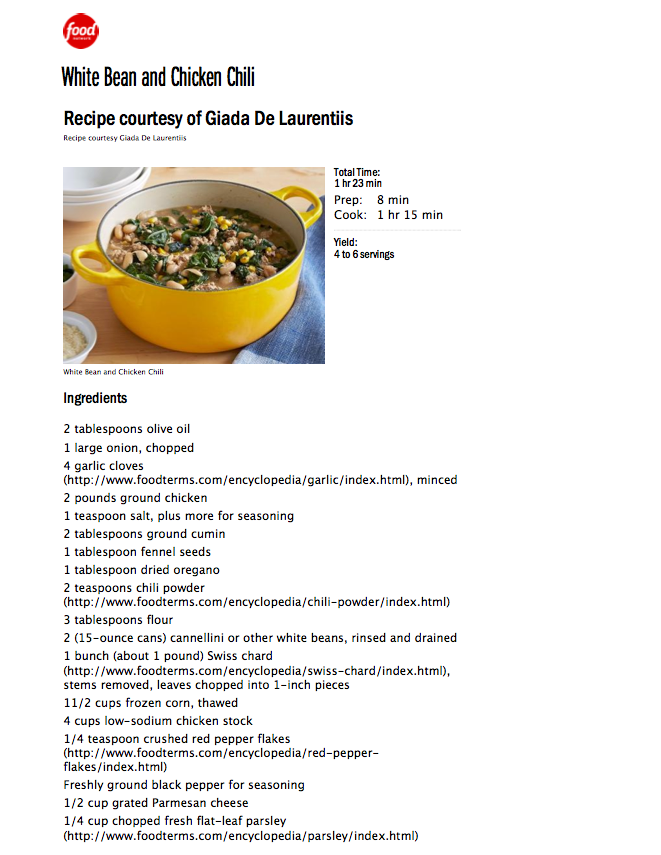 Print Recipes From Foodnetwork Without Links Userstyles