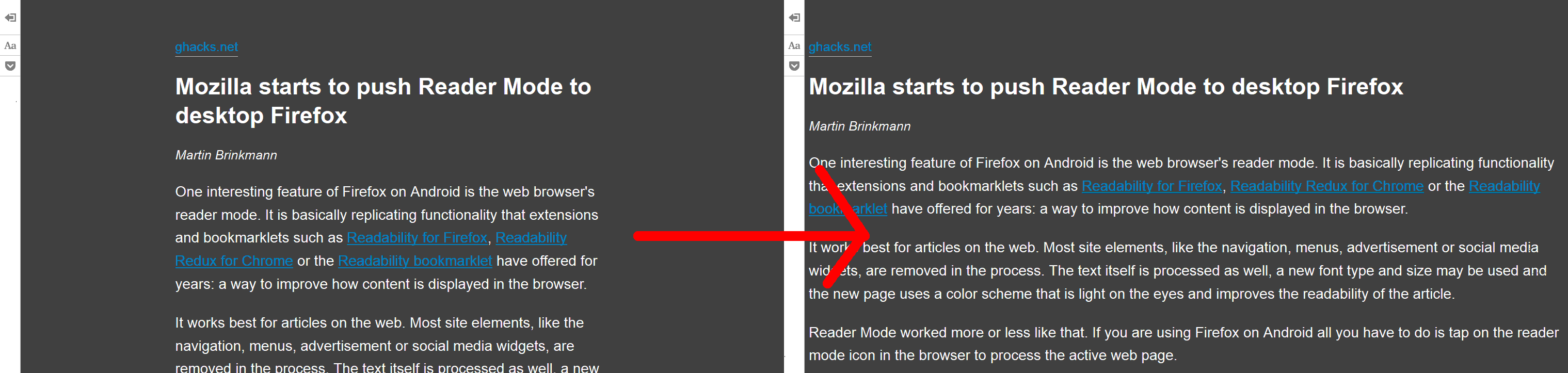 Improve Firefox reader view (reader mode) | Userstyles org