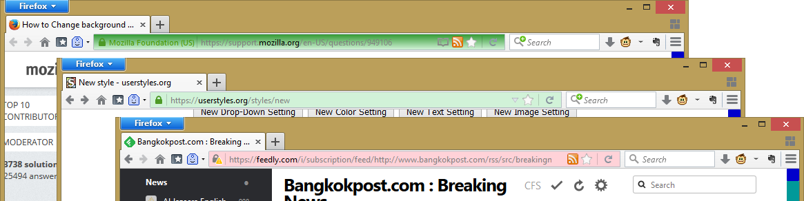 Colored Firefox's HTTPS Location Bar | Userstyles org