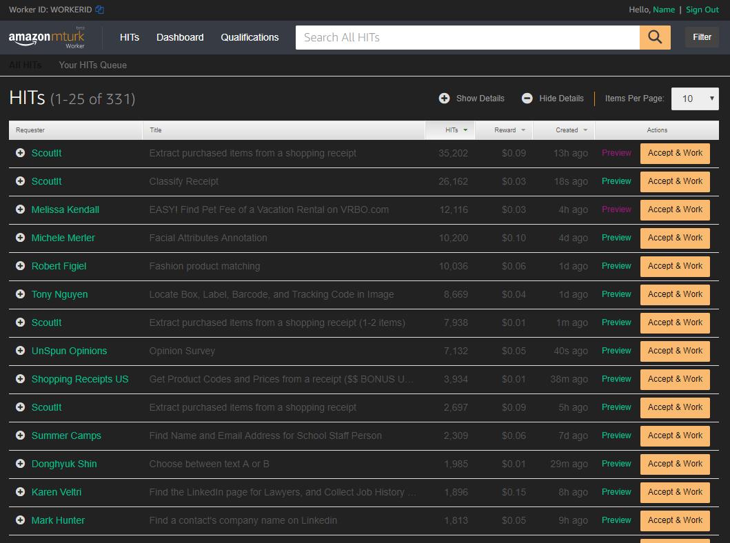 Mturk Worker Userscripts | MTurk Crowd | Mechanical Turk ...