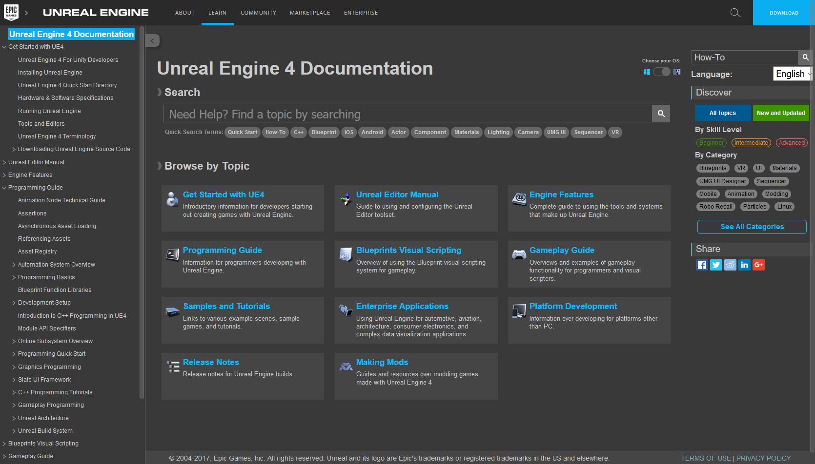 Unrealengine themes skins userstyles unrealengine documentation dark theme malvernweather Image collections