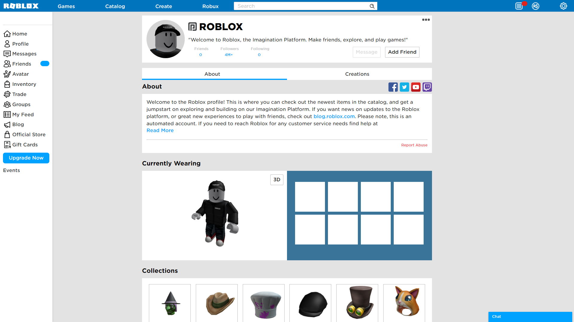 Old Roblox Avatar Page