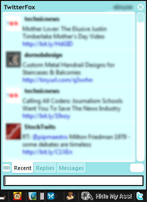 TwitterFox Before