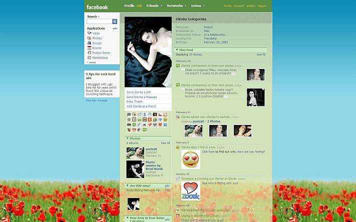 cara mengganti layout, themes, template, skin Facebook