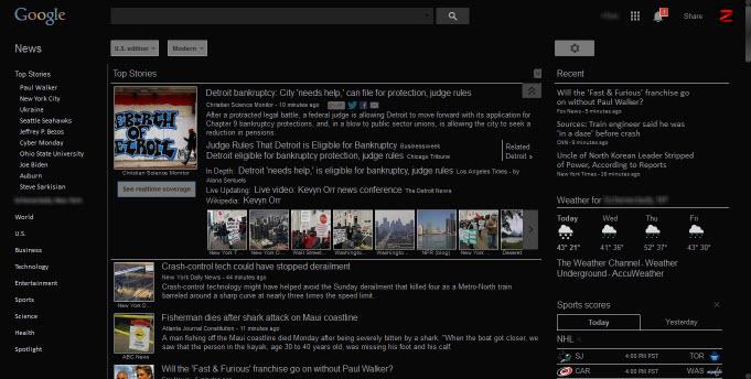Google News Dark - freecyber | Userstyles org